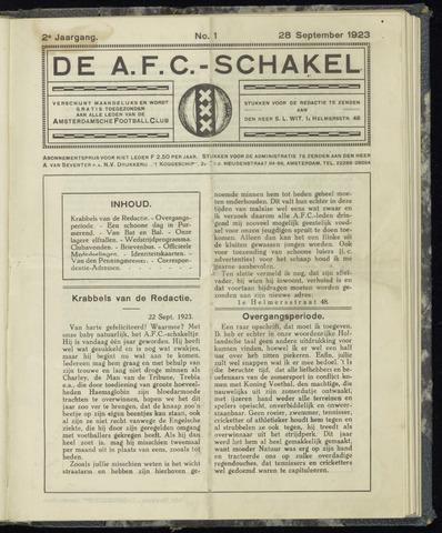 Schakels (clubbladen) 1923-09-28