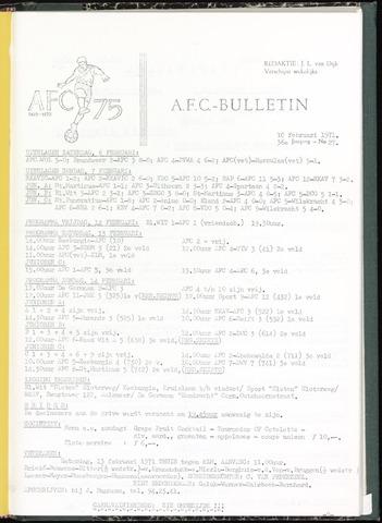 Bulletins (vnl. opstellingen) 1971-02-10