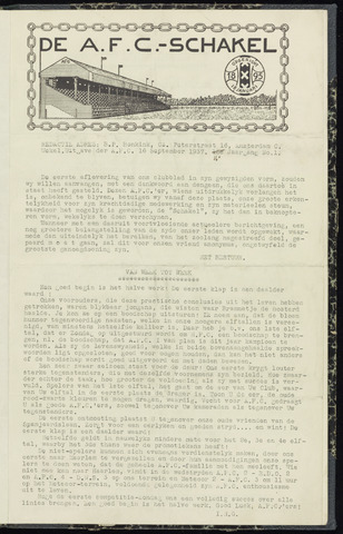 Schakels (clubbladen) 1937-09-16