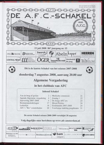 Schakels (clubbladen) 2008-07-23
