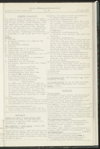 Bulletins (vnl. opstellingen) 1957-06-17