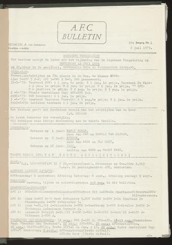 Bulletins (vnl. opstellingen) 1973-07-02