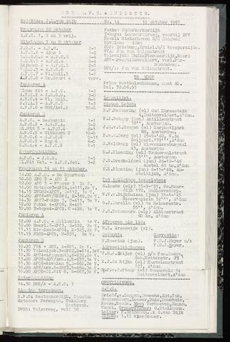 Bulletins (vnl. opstellingen) 1961-10-10