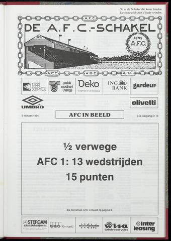 Schakels (clubbladen) 1994-02-09