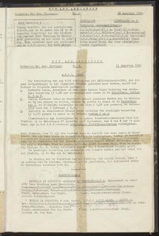Bulletins (vnl. opstellingen) 1949-08-11