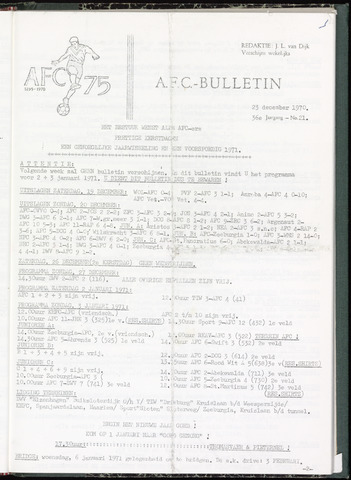 Bulletins (vnl. opstellingen) 1970-12-23