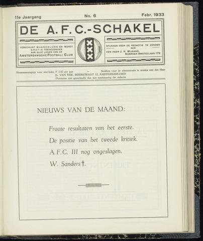 Schakels (clubbladen) 1933-02-01