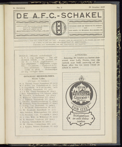 Schakels (clubbladen) 1927-10-29