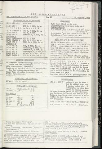 Bulletins (vnl. opstellingen) 1960-02-16