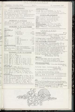 Bulletins (vnl. opstellingen) 1961-11-14