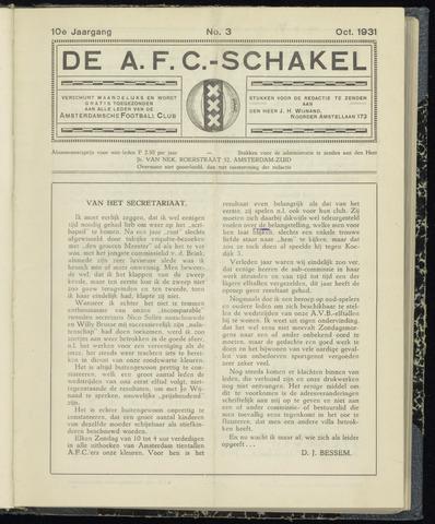 Schakels (clubbladen) 1931-10-01