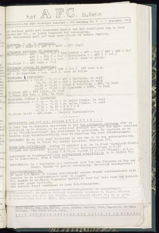 Bulletins (vnl. opstellingen) 1965-09-01