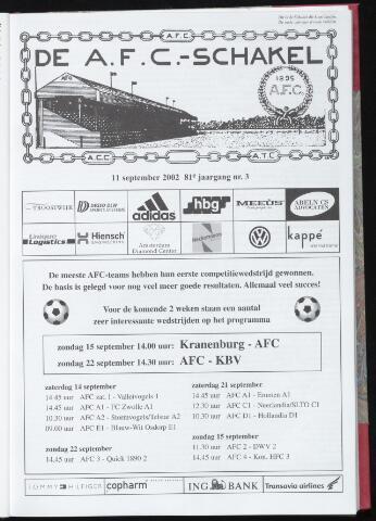 Schakels (clubbladen) 2002-09-11