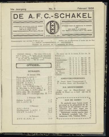 Schakels (clubbladen) 1936-02-01