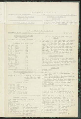Bulletins (vnl. opstellingen) 1956-05-08