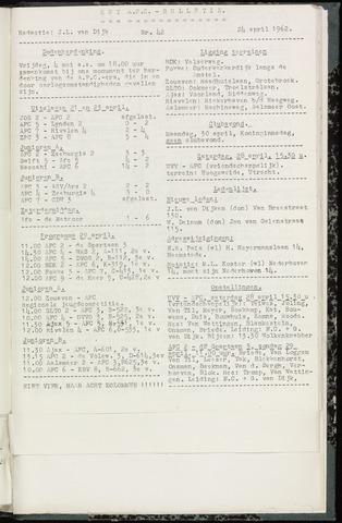 Bulletins (vnl. opstellingen) 1962-04-24