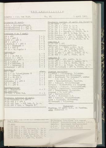 Bulletins (vnl. opstellingen) 1963-04-03