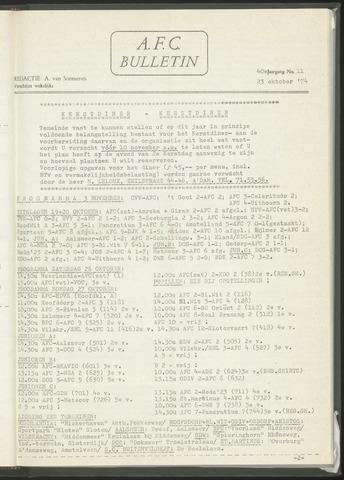 Bulletins (vnl. opstellingen) 1974-10-23