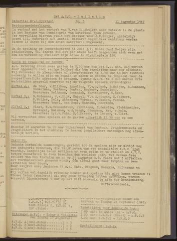 Bulletins (vnl. opstellingen) 1947-08-11