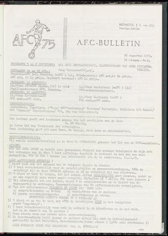 Bulletins (vnl. opstellingen) 1970-08-26