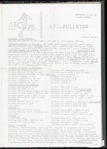 Bulletins (vnl. opstellingen) 1970-11-18