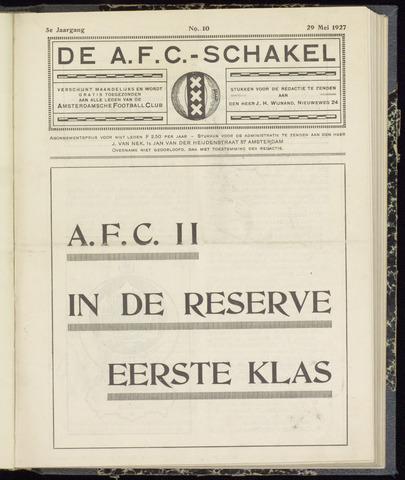 Schakels (clubbladen) 1927-05-29