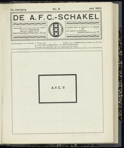Schakels (clubbladen) 1933-06-01
