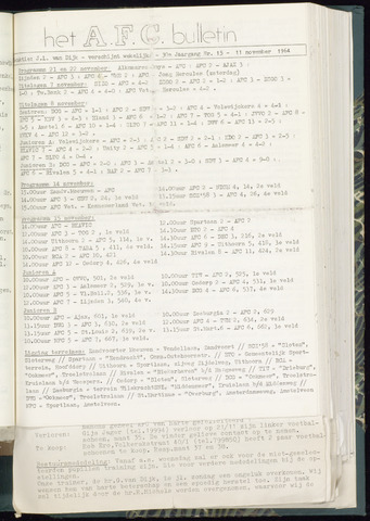 Bulletins (vnl. opstellingen) 1964-11-11