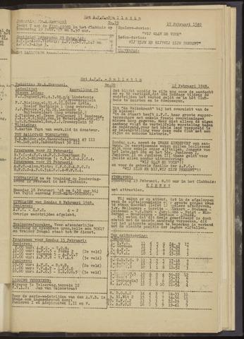Bulletins (vnl. opstellingen) 1948-02-12