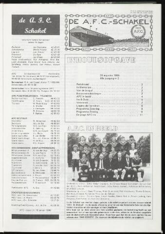 Schakels (clubbladen) 1985-08-28