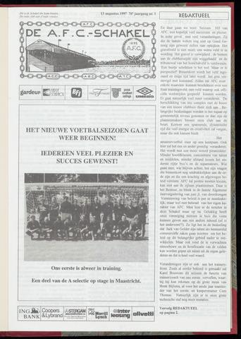 Schakels (clubbladen) 1997-08-13