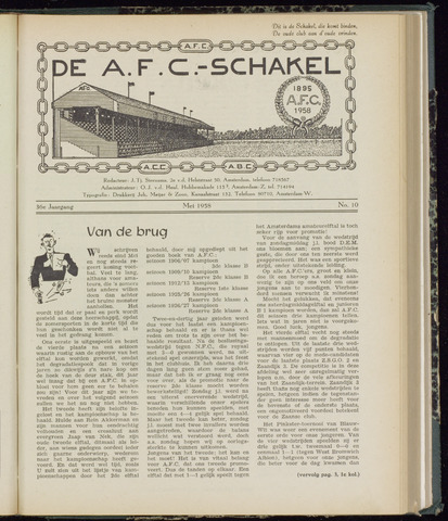 Schakels (clubbladen) 1958-05-01