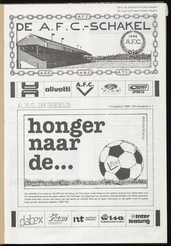 Schakels (clubbladen) 1986-08-13