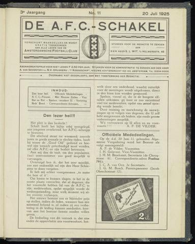 Schakels (clubbladen) 1925-07-20