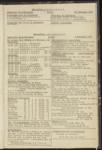 Bulletins (vnl. opstellingen) 1950-02-09