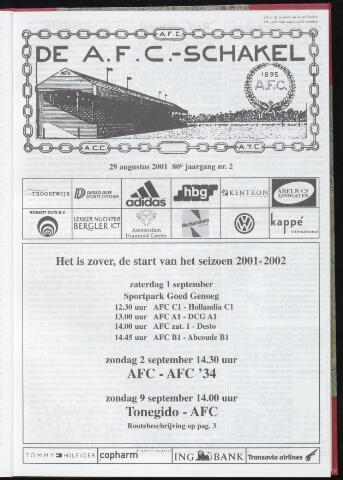 Schakels (clubbladen) 2001-08-29