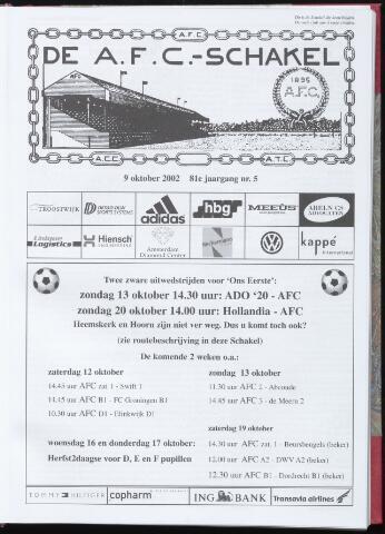 Schakels (clubbladen) 2002-10-09