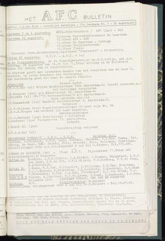 Bulletins (vnl. opstellingen) 1965-08-25