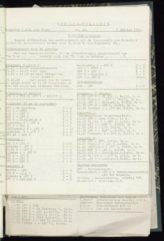 Bulletins (vnl. opstellingen) 1962-09-26