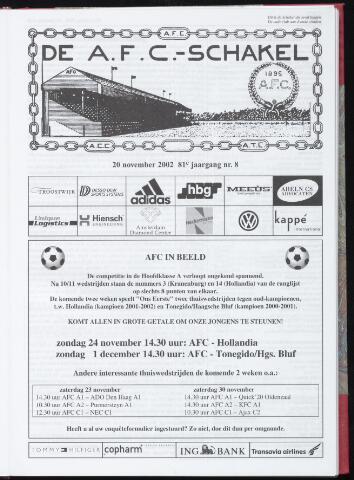 Schakels (clubbladen) 2002-11-20