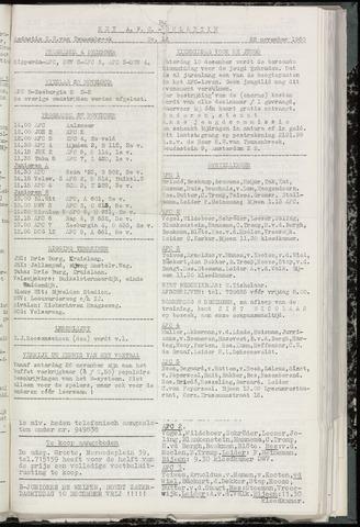 Bulletins (vnl. opstellingen) 1960-11-22