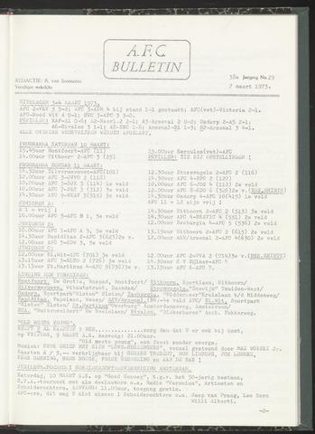 Bulletins (vnl. opstellingen) 1973-03-07
