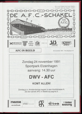Schakels (clubbladen) 1991-11-20
