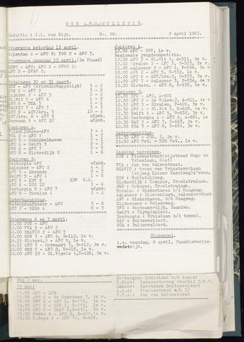 Bulletins (vnl. opstellingen) 1963-03-27