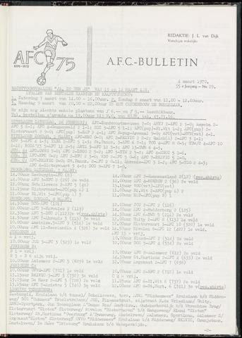 Bulletins (vnl. opstellingen) 1970-03-04