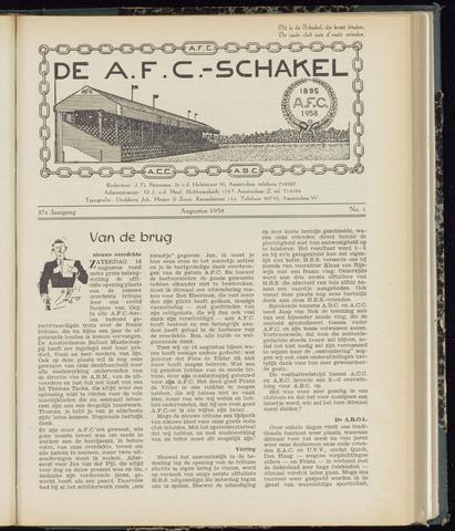 Schakels (clubbladen) 1958-08-01