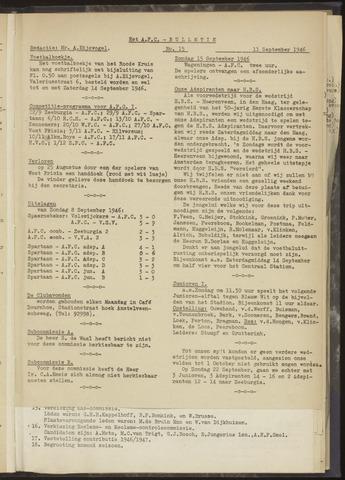 Bulletins (vnl. opstellingen) 1946-09-11