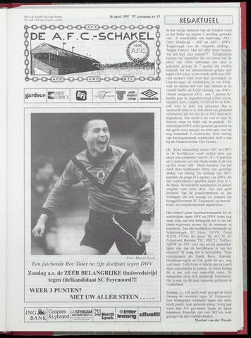 Schakels (clubbladen) 1997-04-16