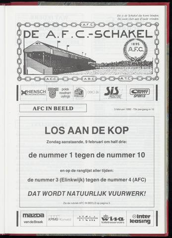 Schakels (clubbladen) 1992-02-05