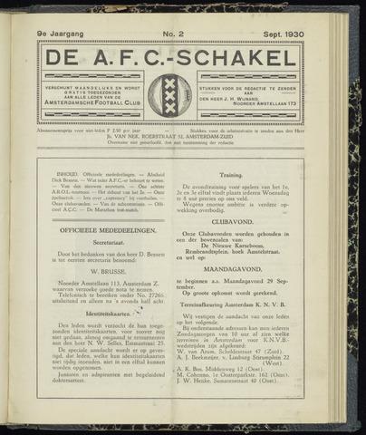 Schakels (clubbladen) 1930-09-01